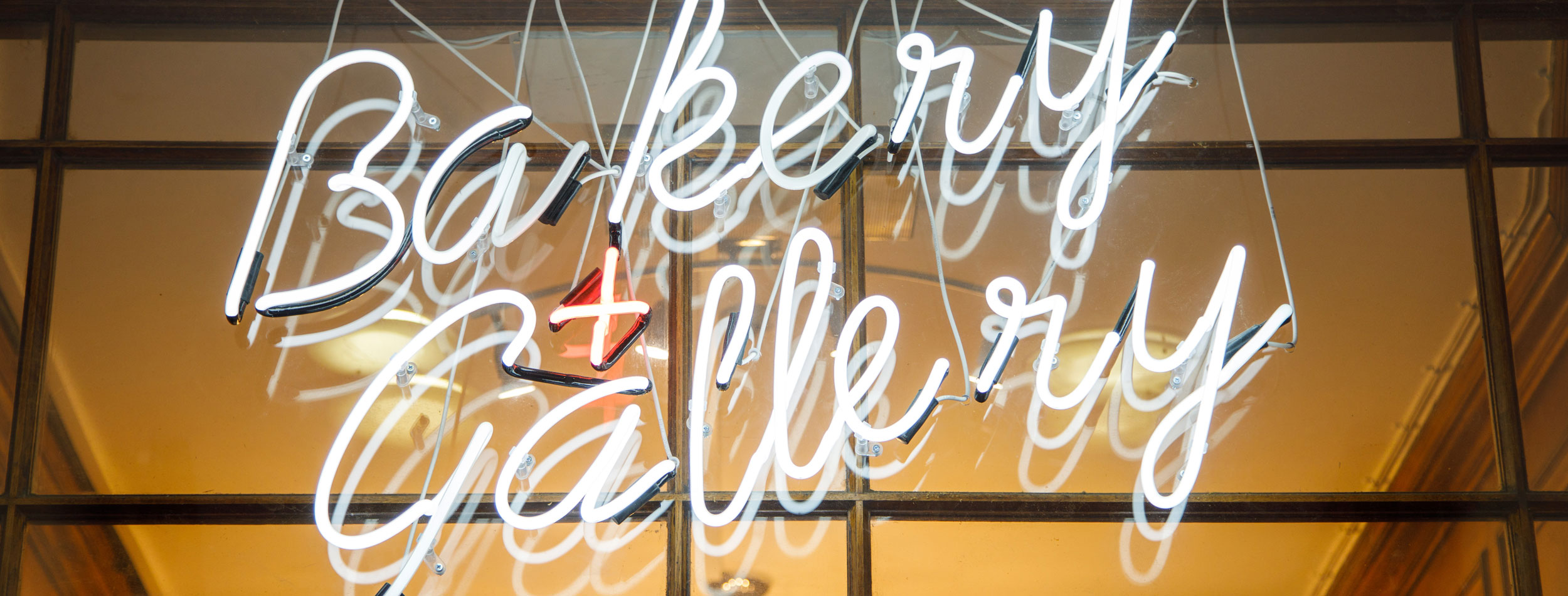 Bakery and Gallery neon sign